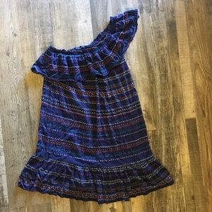 Off one shoulder boho dress